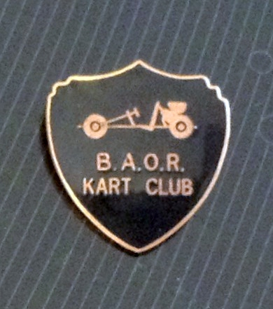 B.A.O.R KART CLUB BADGE