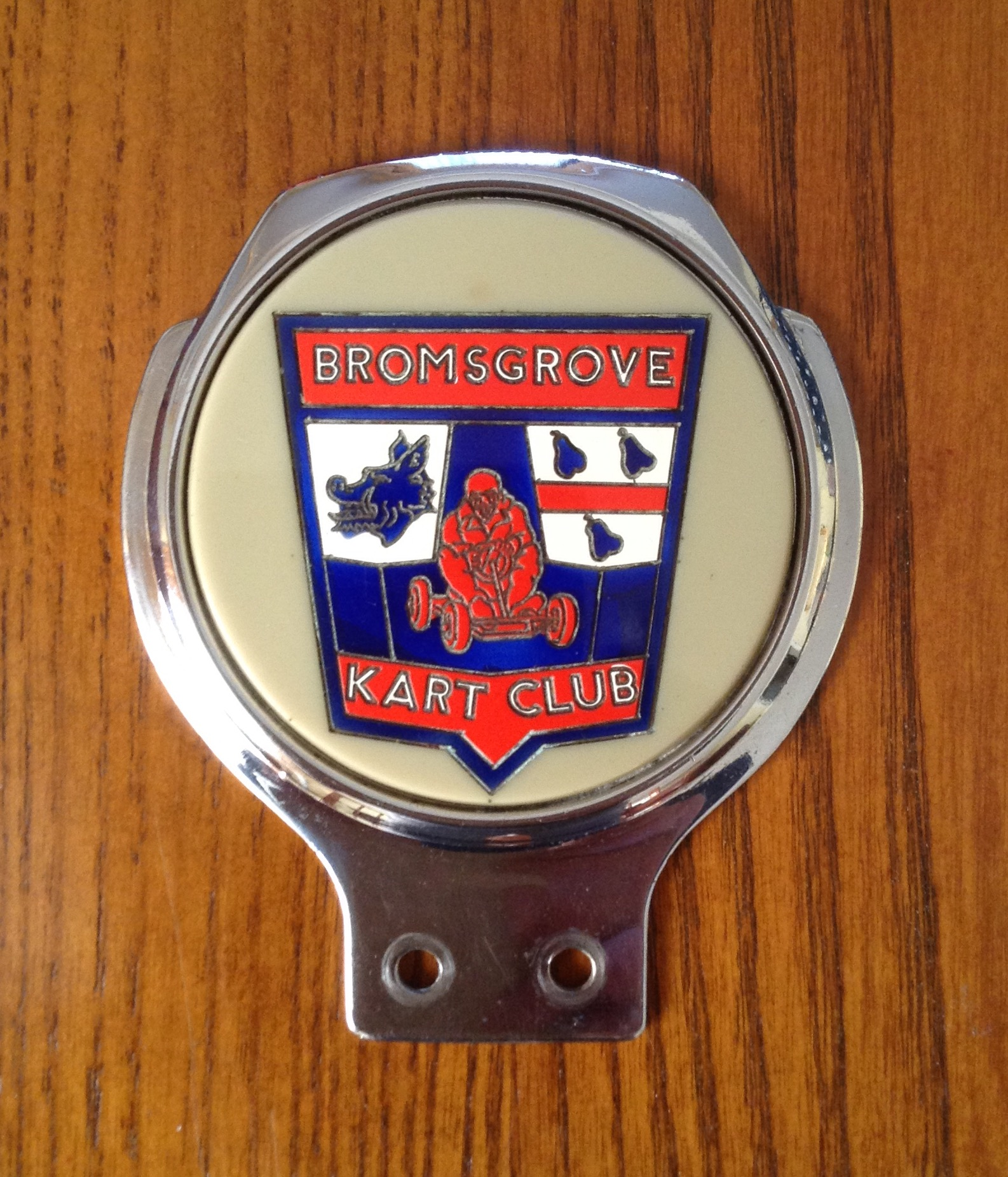 BROMSGROVE KART CLUB BADGE