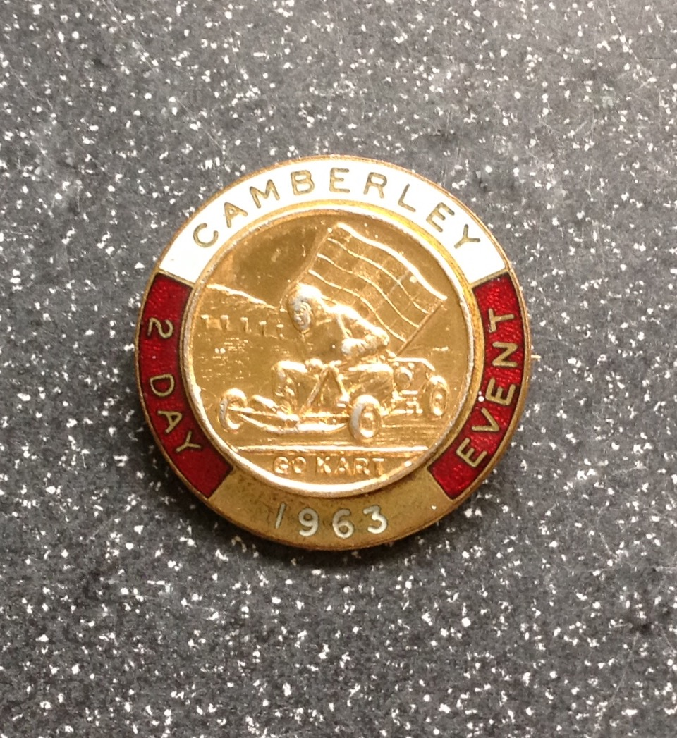 CAMBERLEY 2 DAY EVENT BADGE - 1963