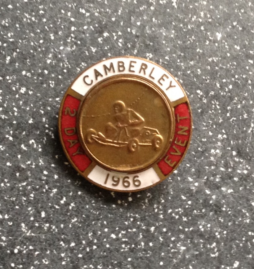 CAMBERLEY 2 DAY EVENT BADGE - 1966