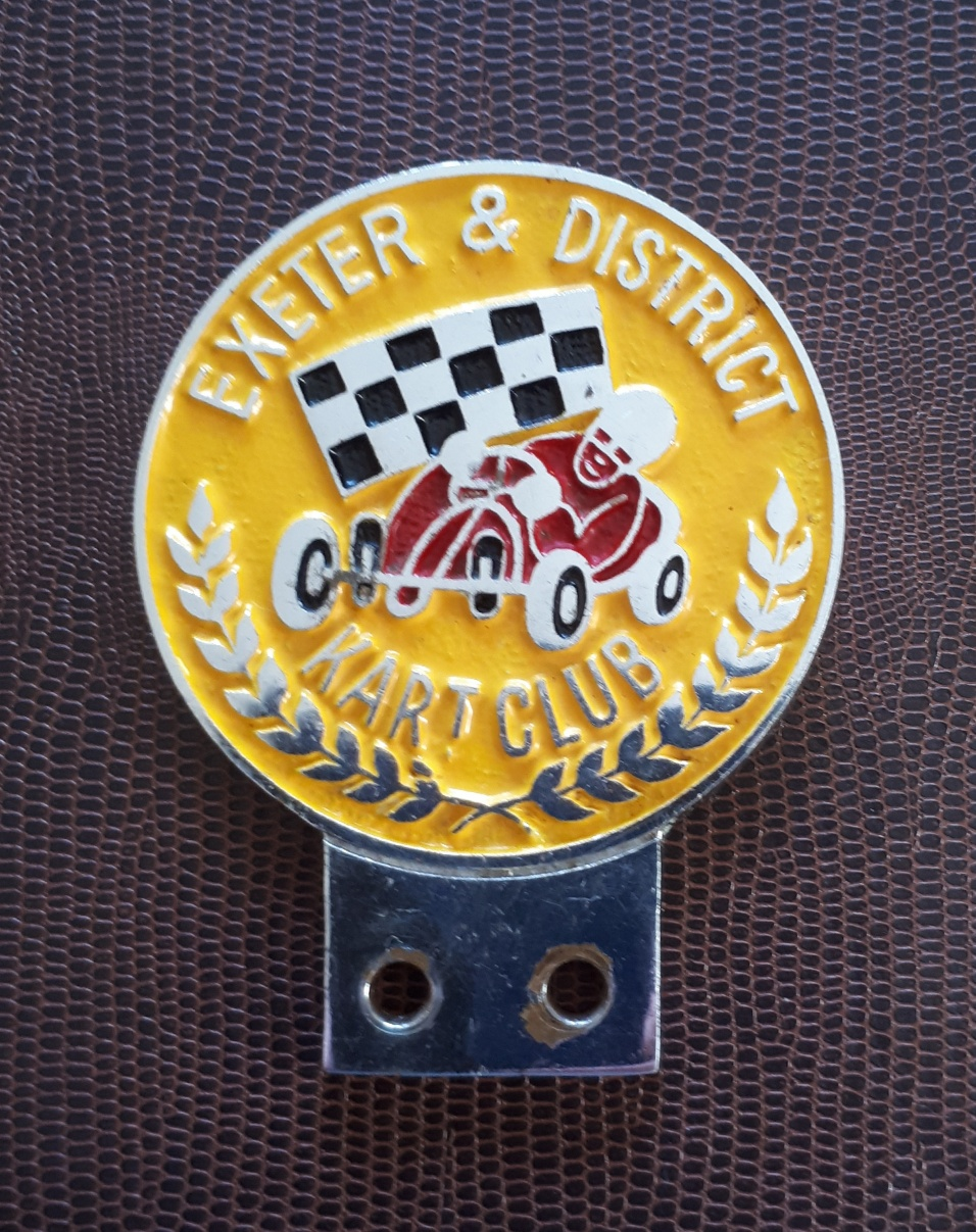 EXETER & DISTRICT KART CLUB CAR BADGE