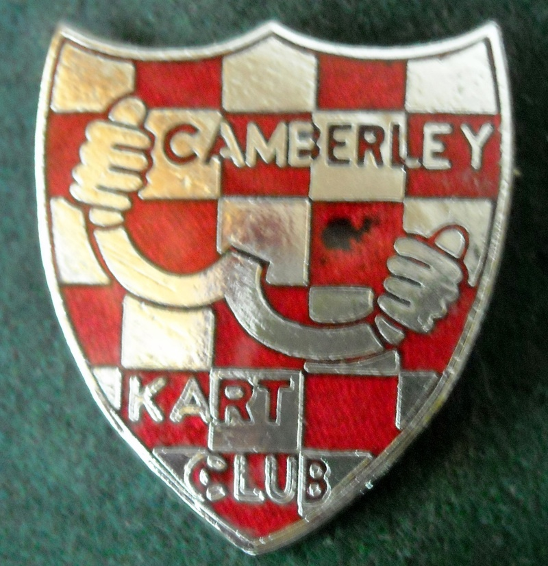 CAMBERLEY KART CLUB 1960s Shield Pin Badge