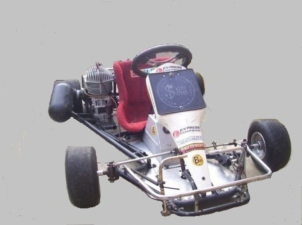 Paul Rixons Keg 1 Kart with the original Arrow engine.