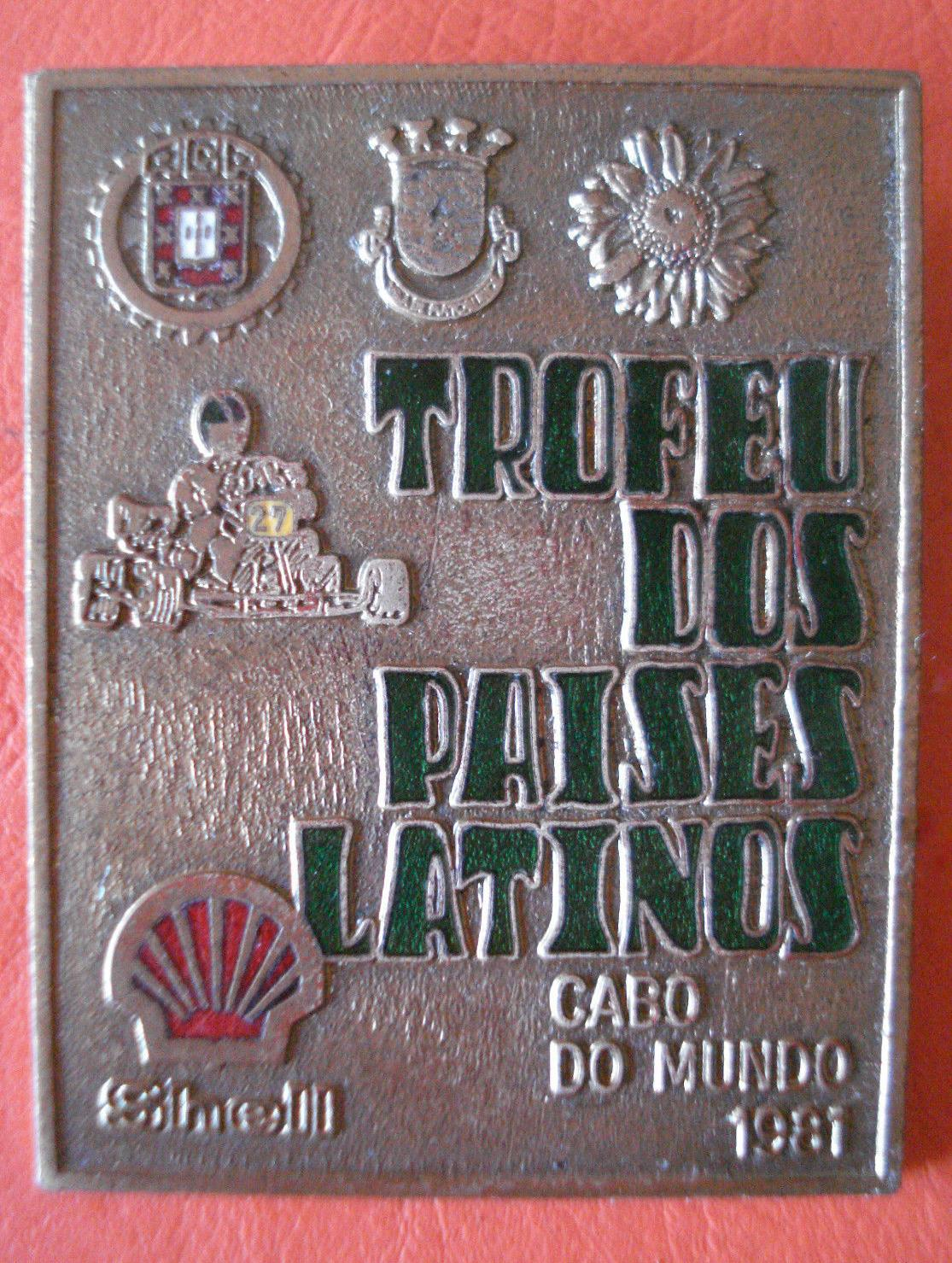 PORTUGAL KART BADGE 1981