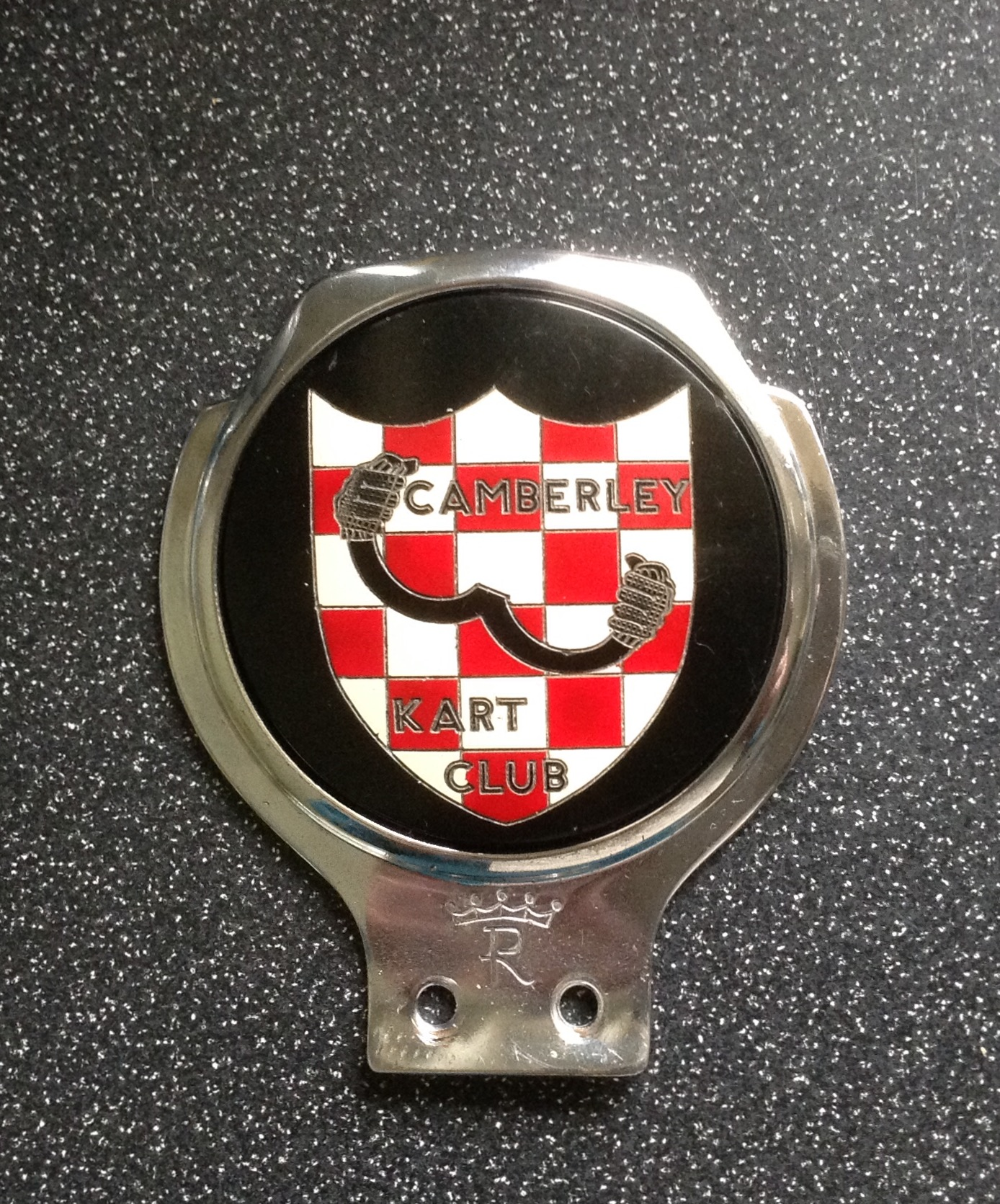 2nd CAMBERLEY KART CLUB CAR BADGE