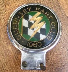 GUERNSEY KART CLUB 1960 CAR BADGE